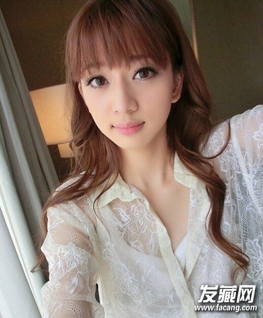 圆脸女生发型设计图 甜美气质圆脸发型