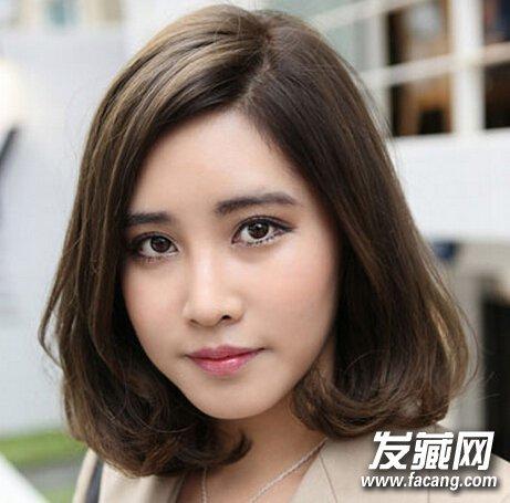 齐刘海波波头发型 适合方脸型女生的发型(2)