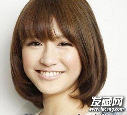 齐刘海波波头发型 适合方脸型女生的发型