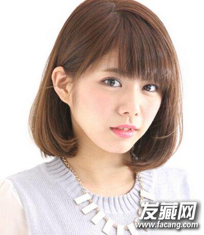 适合圆脸的甜美发型推荐 修饰圆脸简单大方图片