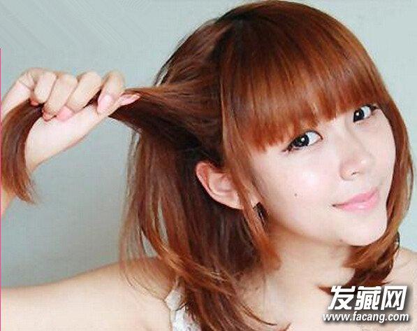 齐肩短发扎法 可爱淑女的齐肩短发发型扎法
