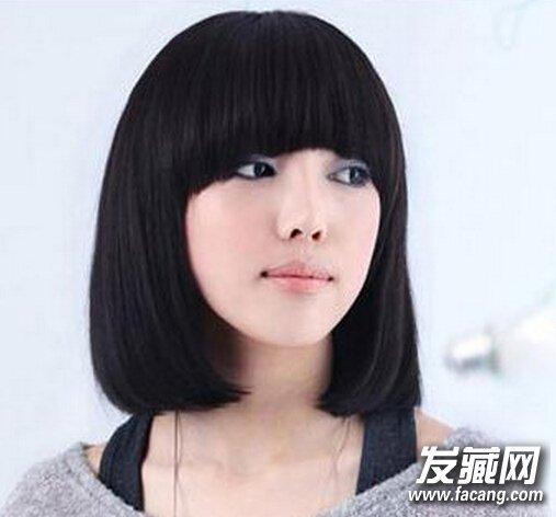 【图】时尚女生齐肩发型图片