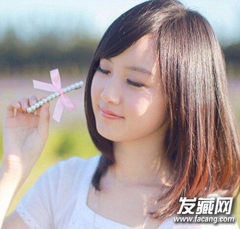 女生齐肩发型设计图(5)  导读:清纯可爱齐肩发型 柔顺发质的齐肩短发