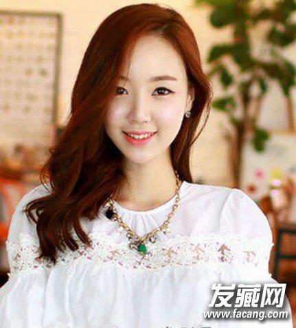 韩式中长发烫发发型 性感中长发烫发(3)