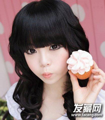 韩国最流行那些造型 最新韩式发型中长发甜美清新(2)图片