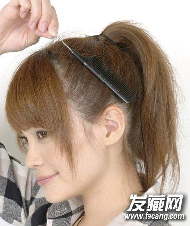 【图】中长发怎么扎? 中长发高马尾扎发(2)_马尾发型图片