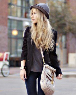 欧美时尚女生长发发型