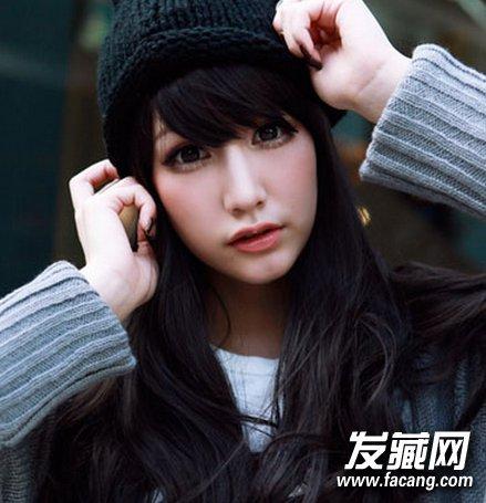 2015清新,修颜斜刘海发型图片(2)图片