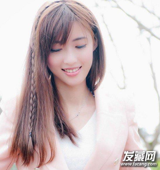 清纯女孩斜刘海时尚发型设计盘点(3)图片
