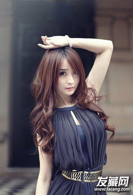 刘海女生中长发发型