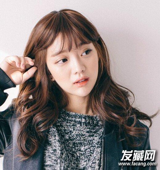 韩式空气薄刘海甜美发型
