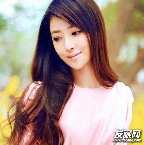 气质修颜女生五款斜刘海发型设计(3)
