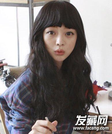 【图】韩式蛋卷头中长发时尚发型