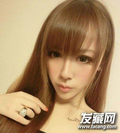 2014女生最新直发发型一高清图片