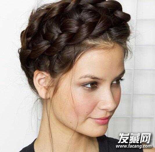 新娘高盘发发型图解步骤图片