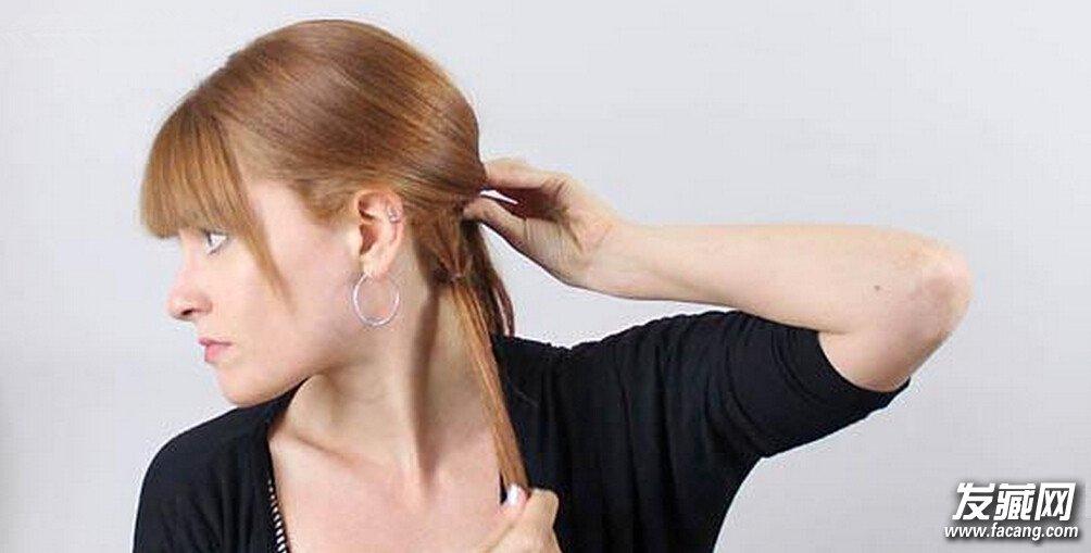 直发怎么扎清新好看 法式麻花辫扎发