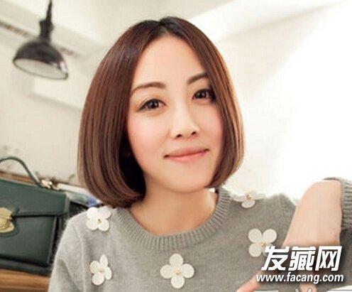这五款最时尚 中分刘海的波波头短发,修颜显时尚御姐范!图片