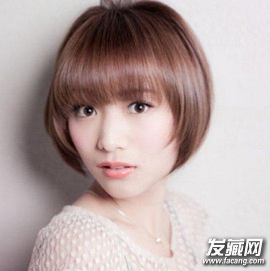 女生清新可爱人气波波头短发发型(2)