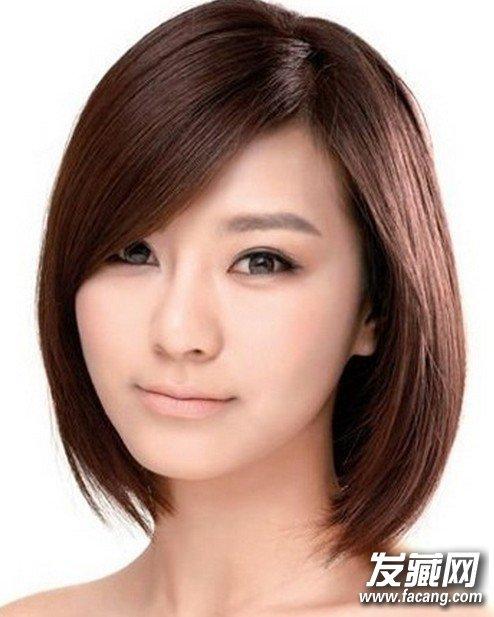 今年最热门发型:侧分波波头发型图片图片