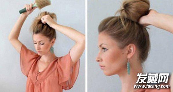 金发怎么扎丸子头好看?唯美扎发发型教程(2)图片