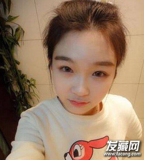 韩式无刘海减龄丸子头图解