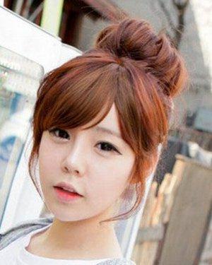 洋气又可爱的韩式丸子头发型