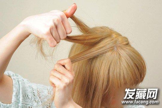 韩式编发盘发教程图解 可爱优雅麻花辫发型(2)