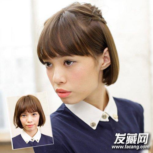 中短发怎么扎好看 2款简单编发教程 →刘海的简单编织 2款实用短发