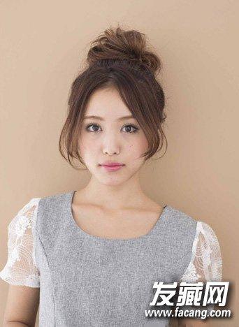【图】丸子头完美瓜子小脸 让你活力四射_丸子头发型图片