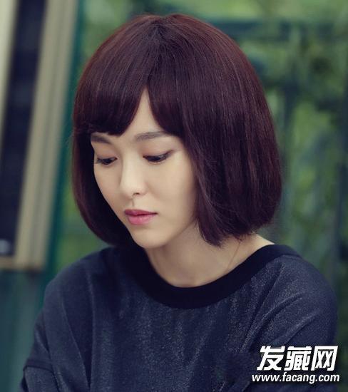 《何以笙箫默》唐嫣偏分韩式刘海波波头发型