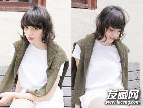 外国人风的超可爱娃娃短发