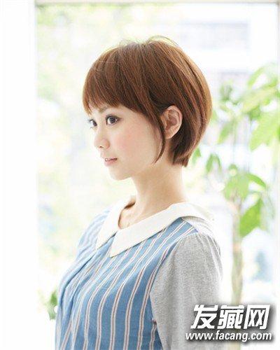 学生妹知性女生短发发型 日系甜美风(3)图片