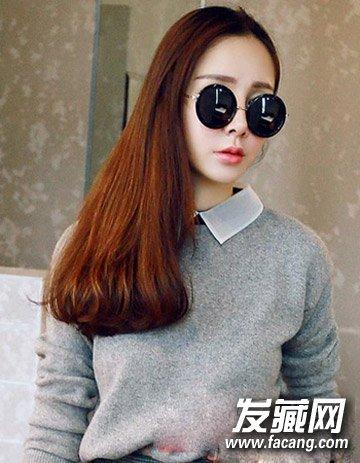 发   发型清新飘逸的长直发造型设计再配合侧边长发打理,而厚