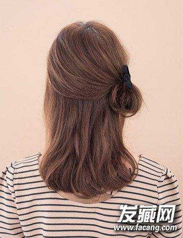 发型网 流行发型 丸子头发型 > 丸子头mix公主头 可爱清新发型扎法(8)