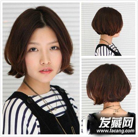蘑菇头短发的内扣刘海发型 修颜短发持续大热(5)