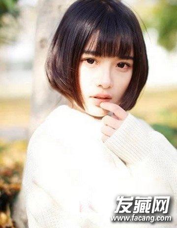 不对称短发发型 清新短直发颜值倍增(3)