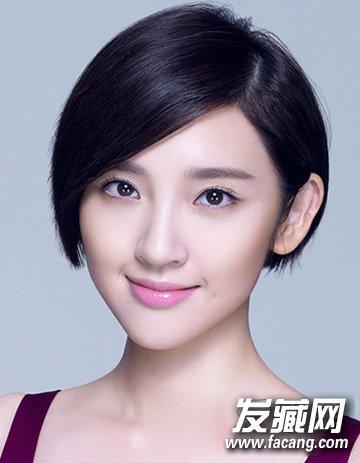 不对称短发发型 清新短直发颜值倍增(5)图片