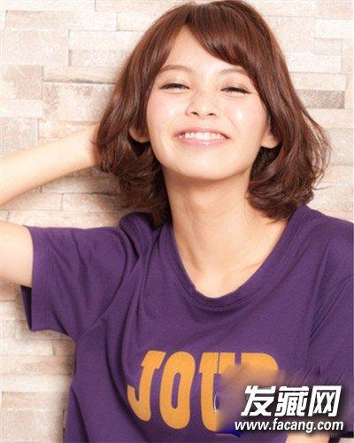厚重的齐刘海发型 可爱甜美少女发型设计(2)