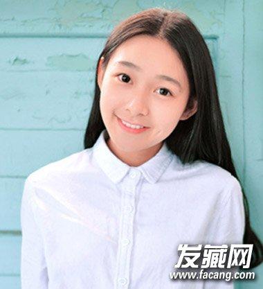 可爱中长发发型 90后萌妹必备刘海发型图片(5)