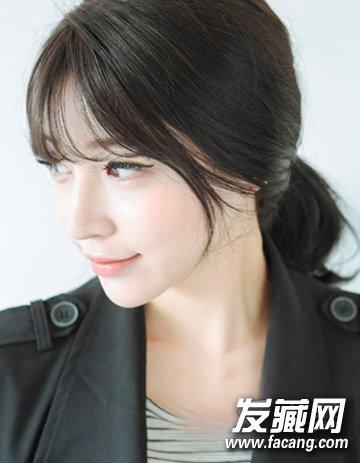 清新的韩式中长发发型 9款百搭最流行(9)