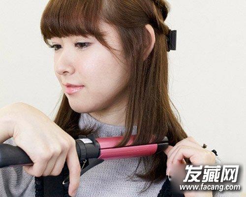 超简单齐刘海发型扎法 齐刘海减龄(7)图片