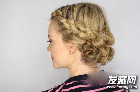 仙女气质花苞头发型 韩式麻花辫花苞头扎法图片