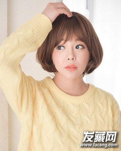 圆脸适合什么发型 简洁大方的中短梨花头