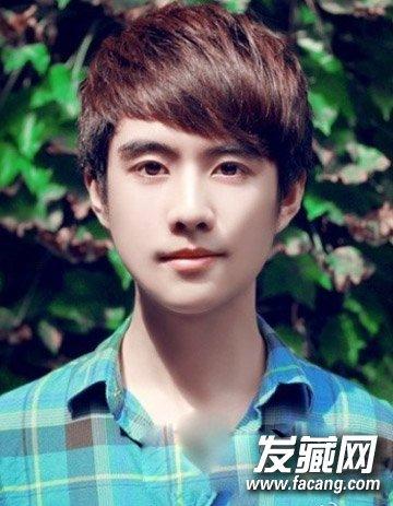 男生最新斜刘海短发 长脸的男生发型设计(5)
