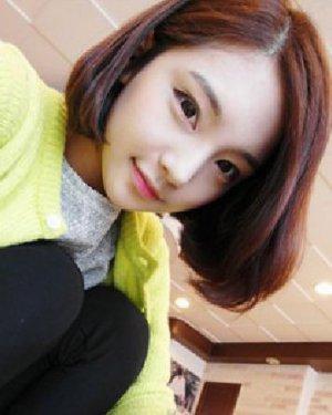 韩式知性波波头短发发型 女生长脸窄额头适合什么短发?