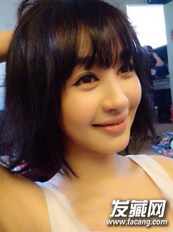 韩式知性波波头短发发型 女生长脸窄额头适合什么短发?(6)图片