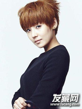 韩式知性波波头短发发型 女生长脸窄额头适合什么短发?(7)图片