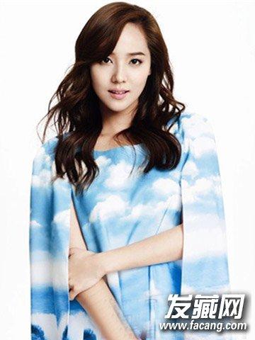 韩国女生中长卷发设计 女人味十足韩式中长发发型(2)