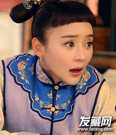 短发造型抢镜(3)  导读:与上面短发同款的短 刘海发型 在古装中袁姗姗图片
