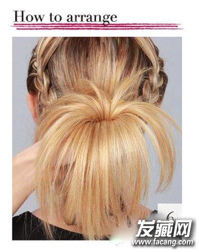 花苞头发型 欧美风花苞头扎法图解(7)